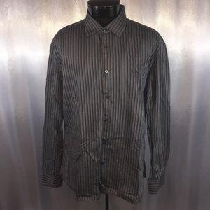 John Varvatos U.S.A. mens striped dress shirt